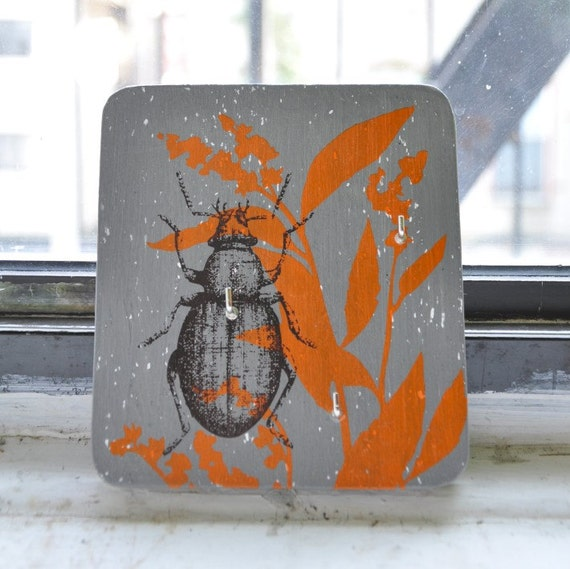 Fall Beetle grey wall key holder Treasury picked
