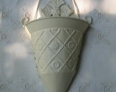 VINTAGE WALL SCONCE, Ivory, Large And Shabby Chic Beautiful.