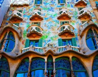 Casa Batllo Barcelona Spain - 8 x 10 Photograph
