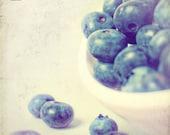 Blueberries Kitchen Art - Fine Art Photography Original Print