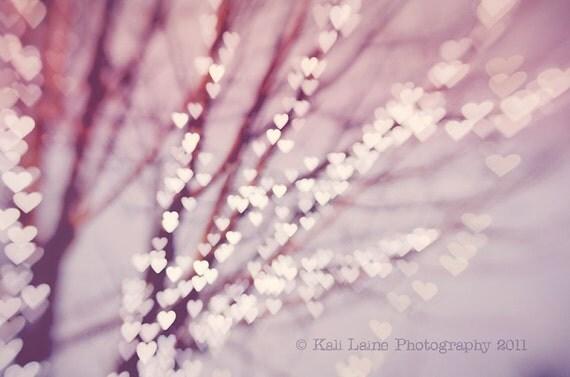 I Heart Trees  - Fine Art Photography Original Print, Abstract Art, Tree Print, Lights Print, Nature Photography, Home Decore, Art Photo