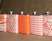 Flasks for Sorority Sisters, Bridesmaids ANY 5 Print Design Stainless Steel 6 ounce Gift Hip Flasks
