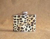 Ladies Gift on Sale Leopard Print Girl Gift Stainless Steel 4 ounce Hip Flask