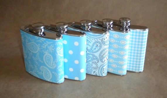 ANY 5 Print Design 6 ounce Stainless Steel Bridal Party Girl Gift Hip Flasks