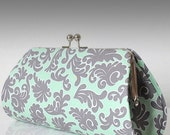 Royale in Sea Foam..Large Clutch Purse