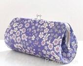 Joli Bouquet in Purple..Small  Clutch Purse