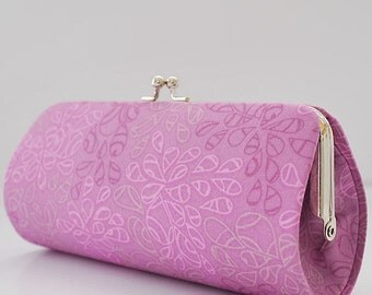 Nature Elements in Orchid Bloom..Small Clutch Purse