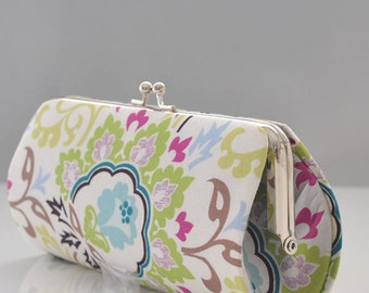 Double Bloom in Ivory..Small Clutch Purse