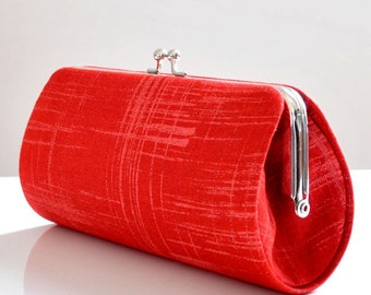 Painters Canvas in Red..Small Clutch Purse