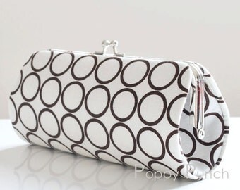 Ring Toss in Brown..Small Clutch Purse