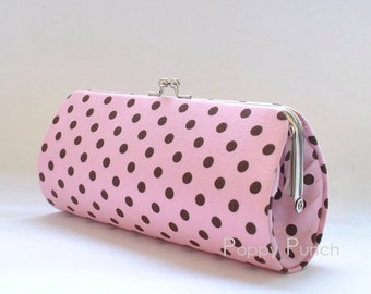Dumb Dot in Pink..Small Clutch Purse
