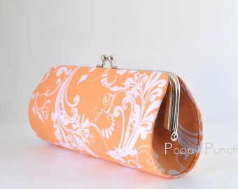 Whispers in Orange..Small Clutch Purse