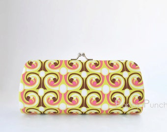 French Curls in Bright..Small Clutch Purse
