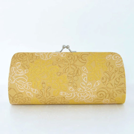 Nature Elements in Antique Gold..Small Clutch Purse