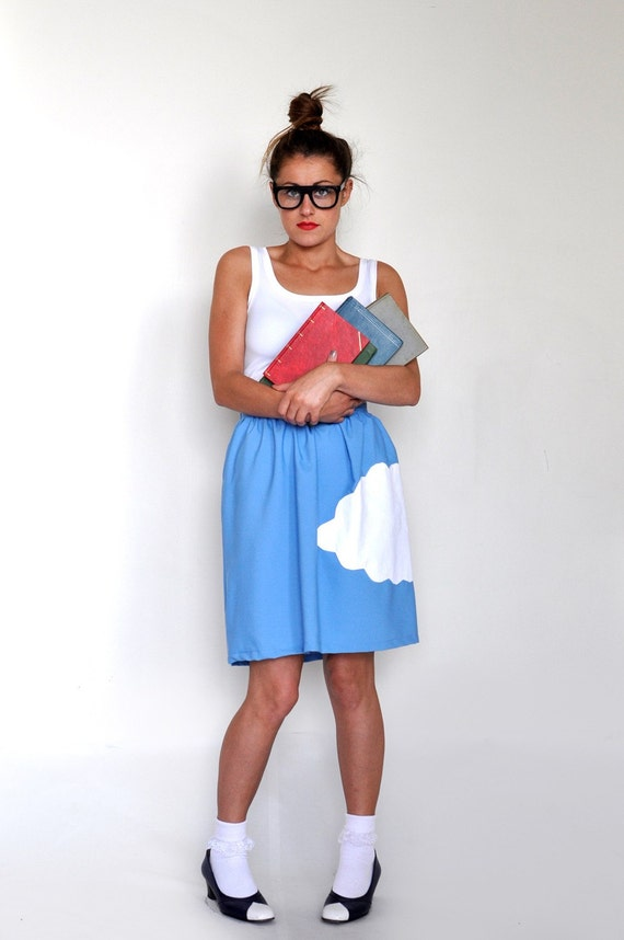RESERVED FOR EMMA Cloud Skirt in Sky Blue