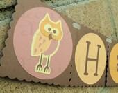 Owl Birthday Banner - 1st Birthday Party