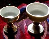 Miniature Vintage Japanese Ceramic Butsudan Alter Cups