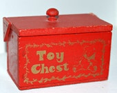 Miniature Vintage Wooden Toy Box