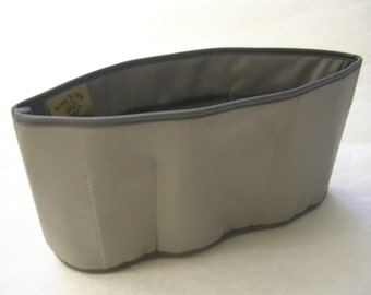 Purse To Go(R)Purse organizer insert transfer liner-Gray- Extra Jumbo-Enclosed bottom-Change purses in seconds