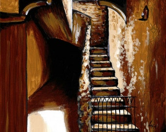 Stairwell giclée print 11 x 14 ready to hang