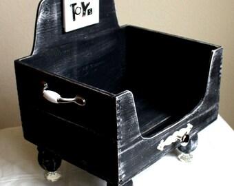 Items Similar To Wooden Dog Toy Box Shape Bone Handles