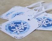 Snowflake Holiday Gift Tags