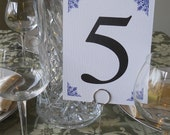 Damask Corners Table Numbers - Set of 20