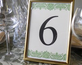 Floral Table Numbers - Set of 20