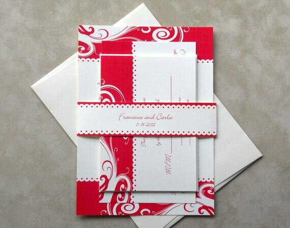 Swirl Wedding Invitation Suite - Sample