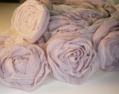 Organza Rose Trim 9colors avail. for hair accessory,clothing,deco,etc. 1/2yd-9pcs(43mm) (D314-Lilac)