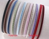 50PCS-5mm Handmade Metal Headband wrapped with Satin Ribbon 12Colors-Choose Your Color  (G125)