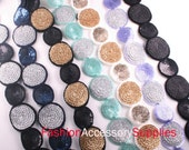 7yd- 2 SizeRound Sequin trim,Lace For Accessory,Art deco,Clothing,etc.-1of each color(B123)