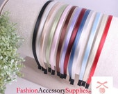 52PCS-5MM Handmade High Flex Metal Headband covered with satin silk and End Fabric tape tip-4of each color(E221)