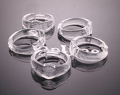 50PCS- clear acrylic ring Adjustable Pad RING Base of 8mm pad(A102)