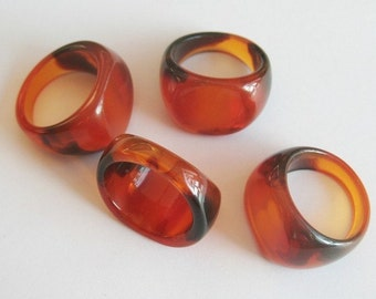 10pcs-15mm acrylic brown ring -appx.7size(B153)
