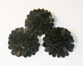 5Pcs-18mm 10Colors Small Satin Mum Flower (F219-Black)