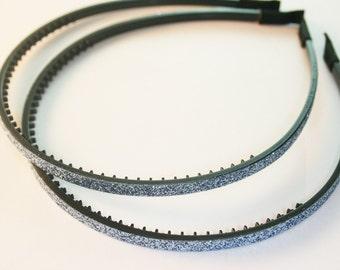3Pcs-5MM Handmade Glitter Plastic Teeth Headband 8Colors (F240-silver)