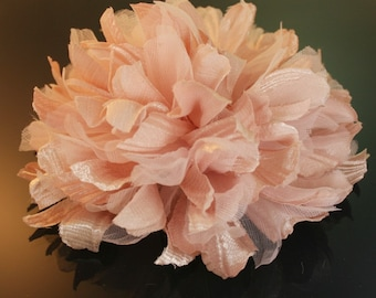 2pcs100mm Large  Satin,Organdy  flower for corsage,shoes,accessory etc.5colors(F230pink)
