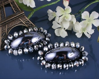2pcs-60mm Biz on Felt With Glass,cubic For Accessory,Jewelry,Shoes,Art deco ETC.(A313)