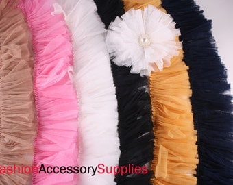 2YD- Gauze  Lace Trim 6Colors-Choose Color(F217)