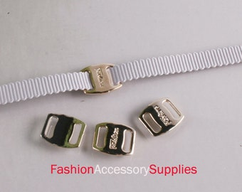 100pcs-5mm Gold Buckles for Art deco,Accessory,Clothing and More..3Size (A157)