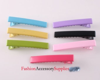 Alligator Hair Clips,pin with Teeth 140PCS- 20 of each colors 45MM(E250)