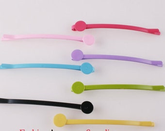28pcs-64mm Bobby Pin Hair Sticks with 8mm Pad 4 of each colors(E251)