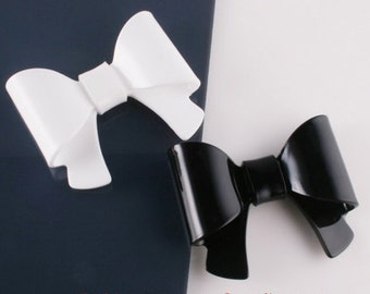4pcs- Ribbon Bow Celluloid Cabochon For Accessory,jewely,Bag,Art deco and more-(C565)