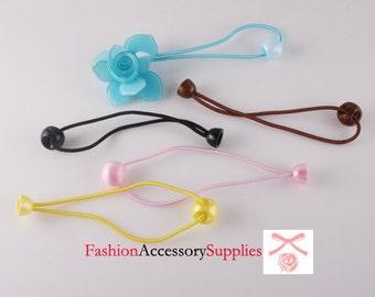 Hair elastic ponytail Plastic ball -10PCS 2 of each colors (E242)