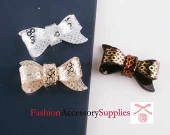 9pcs- Ribbon Bow Celluloid Cabochon For Accessory,jewely,Bag,Art deco and more-3of each color(C566)
