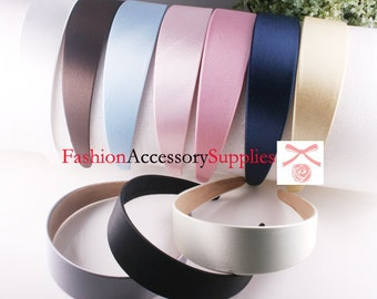 2PCS-40MM Handmade Satin Headband-Choose Color(G103)