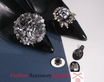 10Pcs-30mm X20mm Shoes Clips Ornament Pad -Choose Colors(C150)