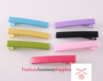 Alligator Hair Clips,pin with Teeth 70PCS- 10 of each colors 45MM(E250)