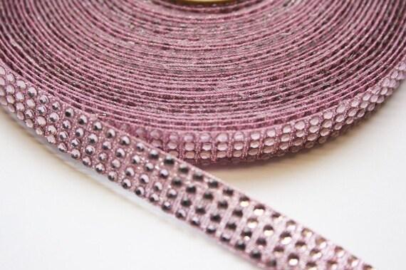 2YD-15mm Hotfix And Glitter Ribbon TAPE-PINK(E237)